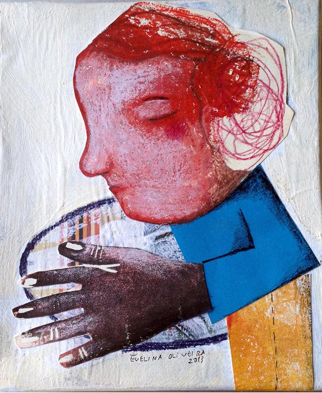 Evelina Oliveira- pequena oferta, Técnica mista s caixa de cartão, 17x14,5x3cm, 2014