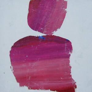 Helena Dias , sem titulo, tinta acrilica colada em tela, 25x25cm, 2017