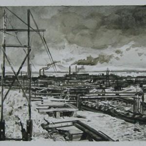 João Fonte Santa - Da série A 2000 Anos Luz de Casa, aguarela sobre papel, 24 x 31,4 cm, 2016