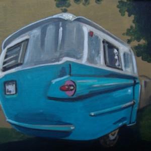 Mimi Tavares, Home and away 4, Acrílico sobre tela, 15x20cm 2017