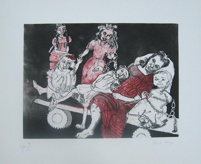 Paula Rego - Meninas Noivas II, gravura, AP 9-14
