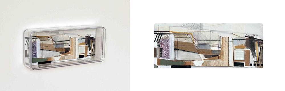 Susana Chasse - Série-Box-01- 2017, mista s papel e caixa de acrilico