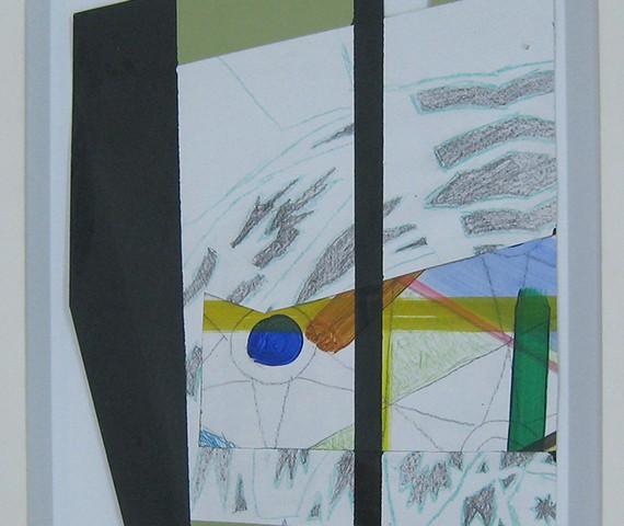 Luis Nobre - Estrutura 9, 2015, tinta acrilica e grafite sobre papel BD