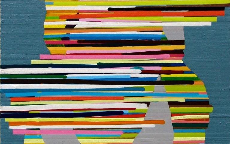 Nuno Gaivoto - Blondie, 2005 - 40x40cm acrilico sobre tela