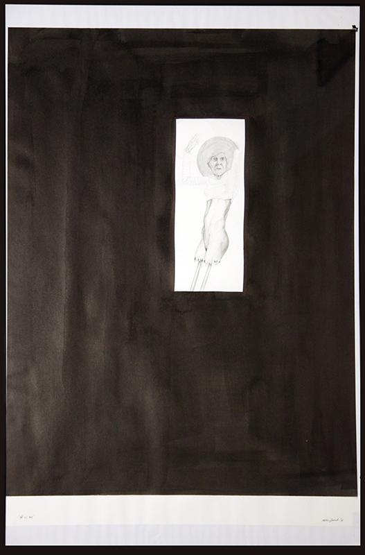 Pedro Inock - Old As me - grafite e tinta da china s papel, 70x50cm, 2016