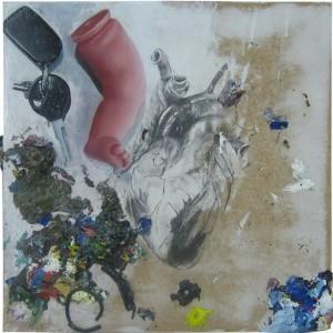 Nuno Fonseca - Master Guardian, guardador de sonhos, grafite e acrilico sobre mdf, 30x30cm