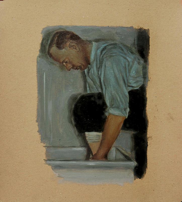 Pedro Pascoinho- emerge II, 2012, oleo s papel 26x23cm copy