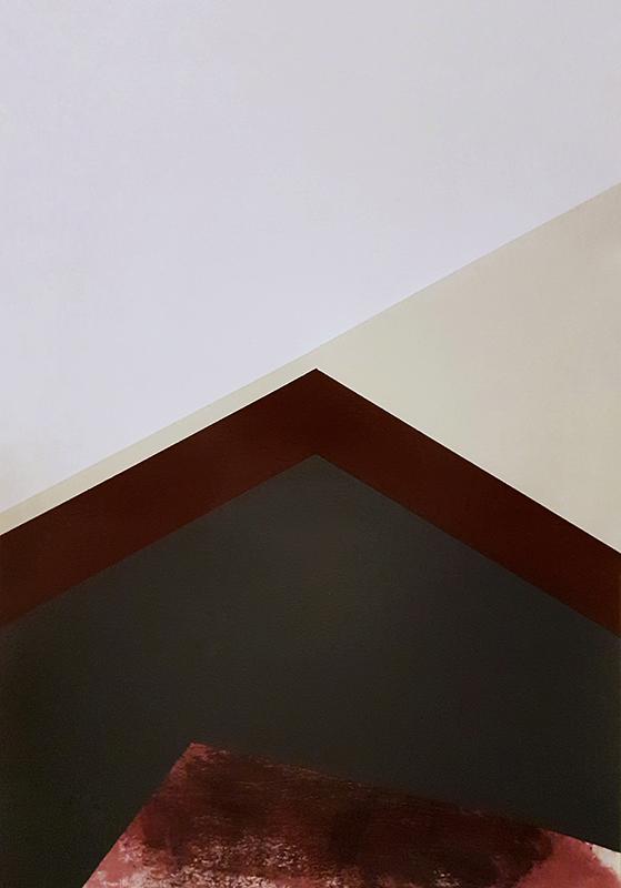 André Lemos Pinto, Abstract Composition series, 3, 2018, acrilico s papel, 35x50cm