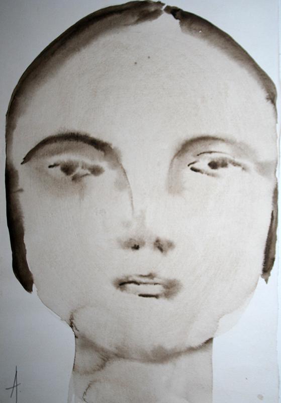 Angelina Silva, st 4, aguada sobre papel, 20x40cm-20x25cm
