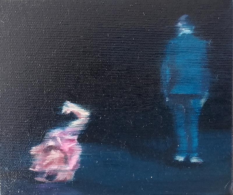 António Trindade - Sem título, #8, óleo sobre tela, 12,5x15cm, 2015