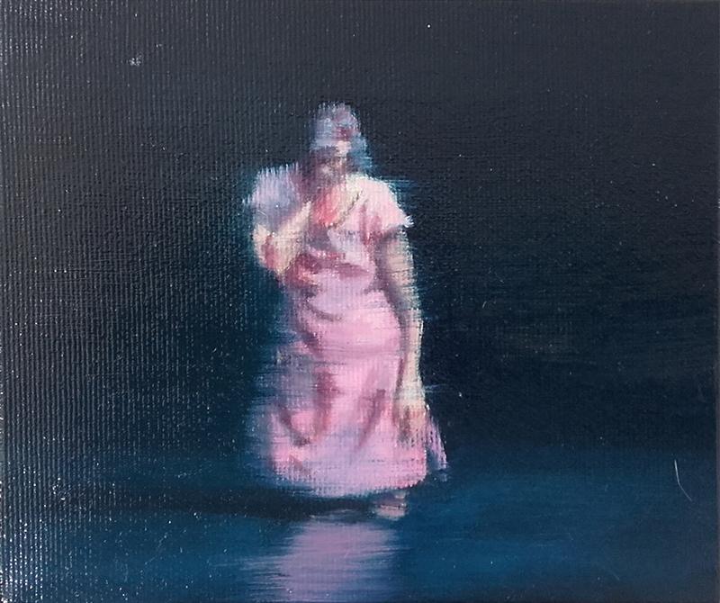António Trindade - Sem título,10, óleo sobre tela, 12,5x15cm, 2015,