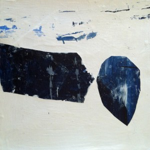 Helena Dias - st 8, tinta acrilica colada em tela, 17x17cm, 2018