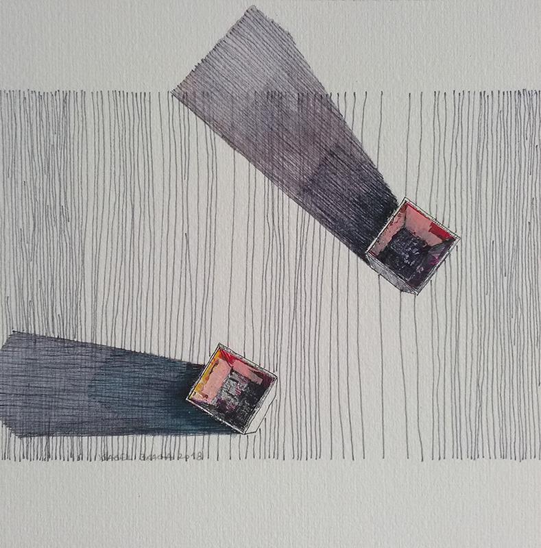Isabel Braga - p2018_01, mista s papel, 15x15cm