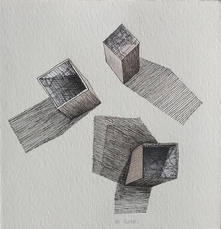 Isabel Braga - p2018_05, mista s papel, 13x12,5cm