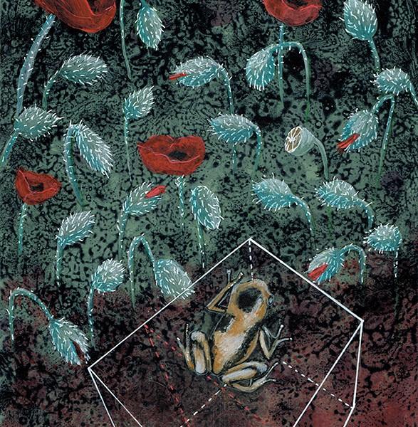Joana Soberano - Study fo Wonderland VI - 2018, acrilico e lapis cor sobre papel 280g, 28,4x21cm