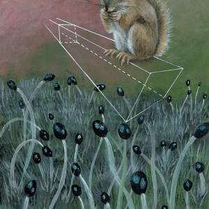 Joana Soberano - Study fo Wonderland VII - 2018, acrilico e lapis cor sobre papel 280g, 28,4x21cm