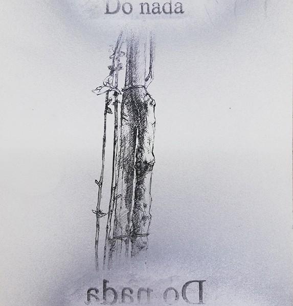 Jorge-Abade-Do-nada-2018-tinta-china-spray-prateado-e-decalque-297x21cm