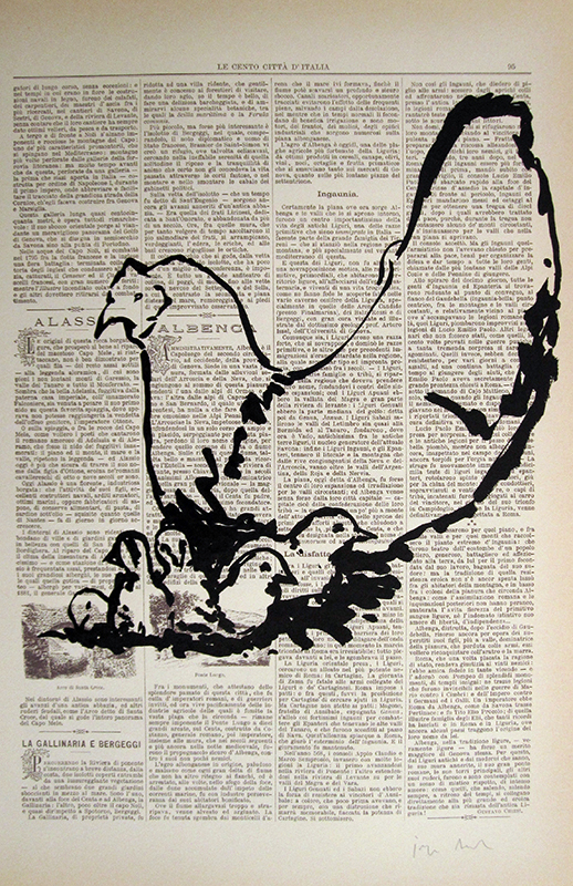 Jorge Leal - st galinha, 2016, tinta china s papel, 45x30cm