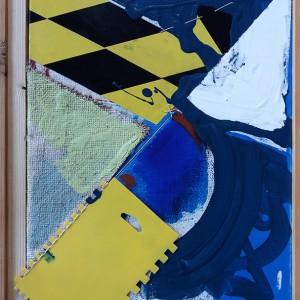 José Fonte - un-repeatable moments 1, mista s tela, 2018, 47x34,5cm