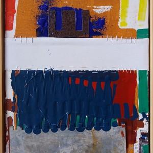 José Fonte - un-repeatable moments 2, mista s tela, 2018, 45x34,5cm