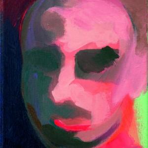 NUNO GAIVOTO - red lips, 2018, acrilico s tela, 19,8x14,8cm