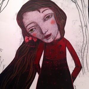 evelina oliveira_ red velvet, 2017, mista s papel, 24x18cm