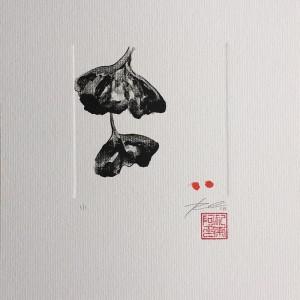 Renata Carneiro - st 1, monotipia a oleo e caneta, 14x14cm