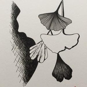 Renata Carneiro - st 3, desenho caneta s papel, 14,8x21cm