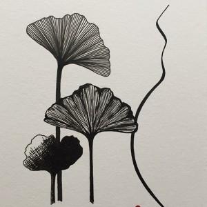 Renata Carneiro - st 5, desenho caneta s papel, 14,8x21cm