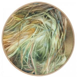 Sonia Anicento - Tondo 4, 2017, bastido, oleo s tela, 15cm diam
