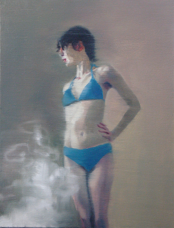 António Trindade - Smoke, 50x40cm, 2018, oelo s tela
