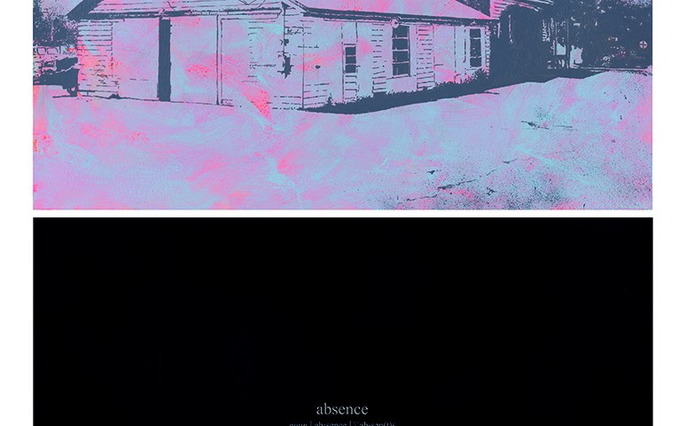 Alexandre Baptista - ABSENCE 8, 2019, acrilico e serigrafia s papel, 72x48cm