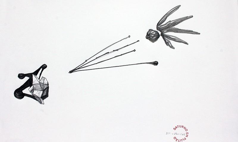 António Olaio - saturno em plutão 11 B, grafite s papel, 42x55cm, 2019