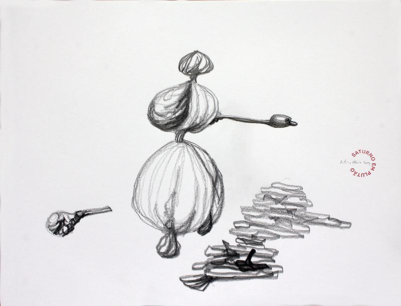 António Olaio - saturno em plutão 7 B, grafite s papel, 42x55cm, 2019