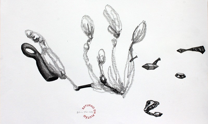 António Olaio - saturno em plutão 8 B, grafite s papel, 42x55cm, 2019