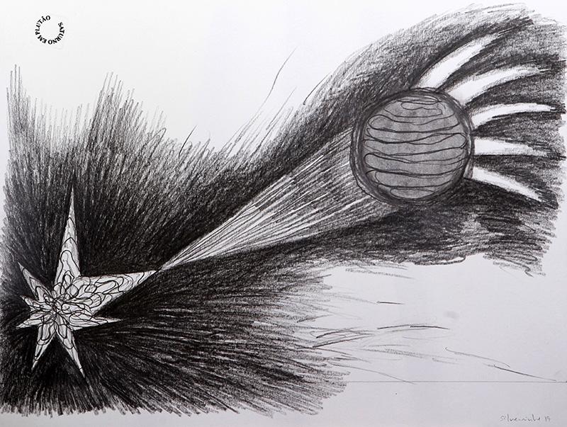 Luis Silveirinha - Saturno em plutao 11A ,grafite sobre papel, 55x47 cm, 2019