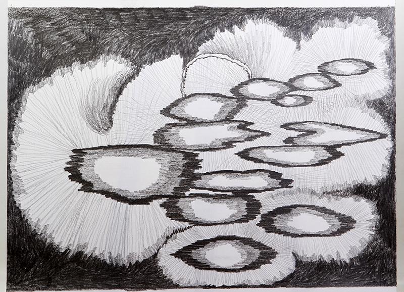 Luis Silveirinha - Saturno em plutao 5A ,grafite sobre papel, 55x47 cm, 2019