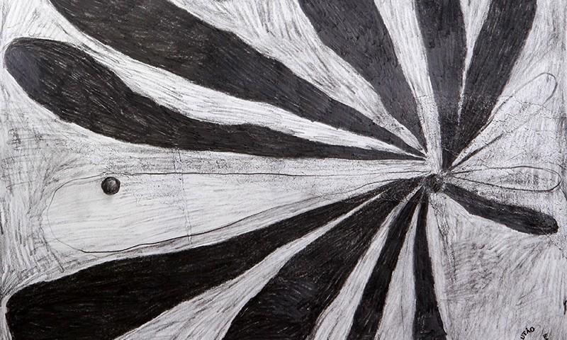 Luis Silveirinha - Saturno em plutao 8A ,grafite sobre papel, 55x47 cm, 2019