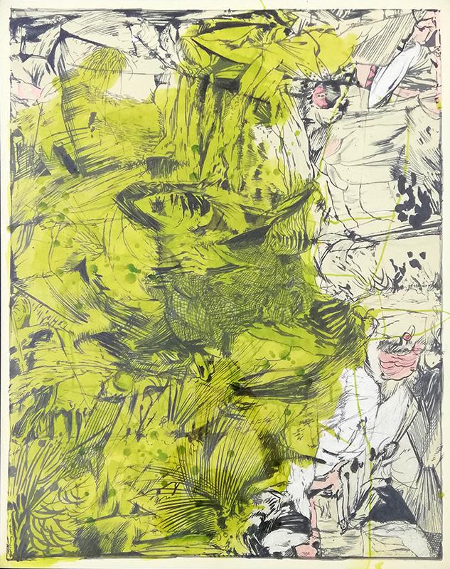 Rico Sequeira - Serie comics 6-A, mista s cartão, 2016, 105x81cm BD