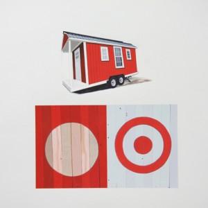 Gabriel Colaço - Huts 10, acrilico s papel, 50x50cm