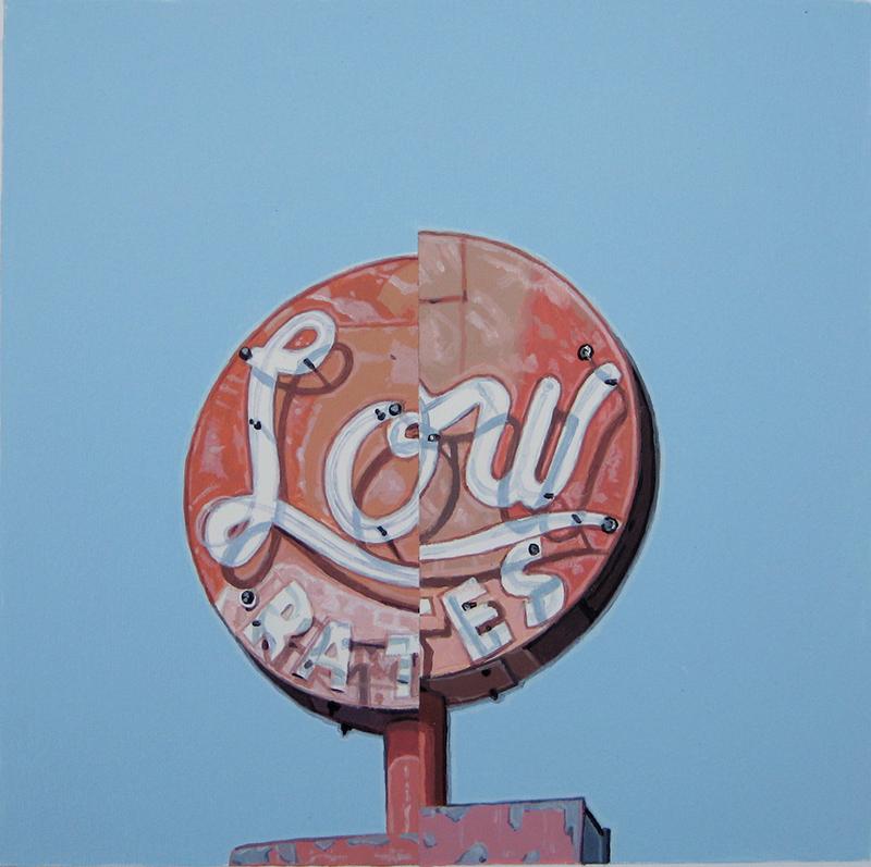 Gabriel Colaço - Signs 36-2010-Acrylic on paper-50x50cm