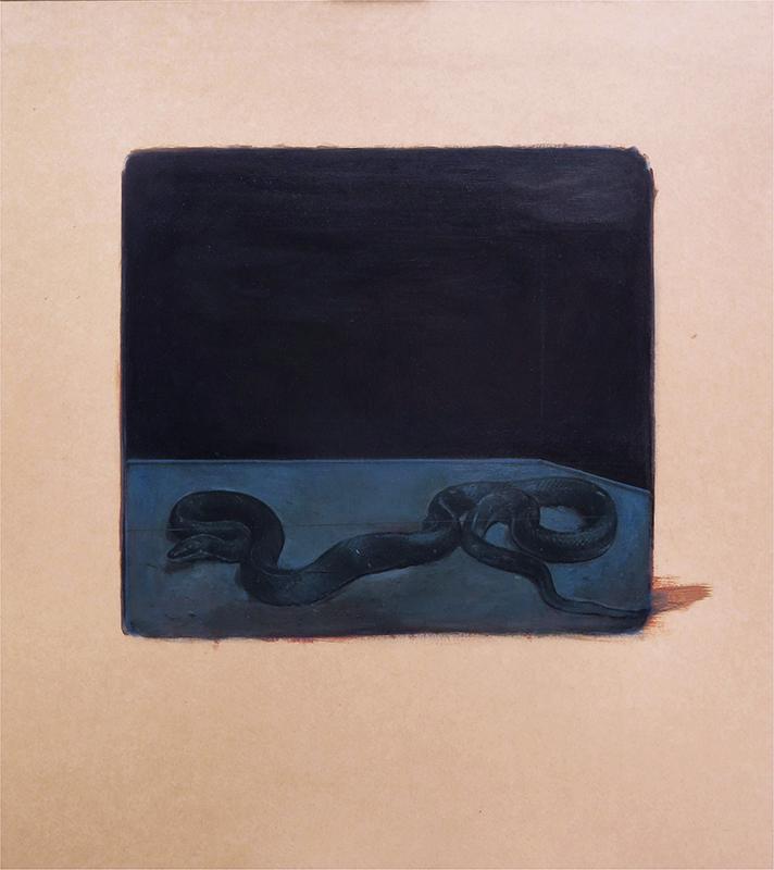 Pedro pascoinho 013- Renewal 118,5x104,5cm oleo s papel s madeira 2019