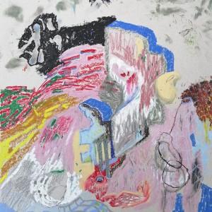 João Melo, st 3, 2019, pastel oleo e lapis cor s cartaz, 37,5x40cm