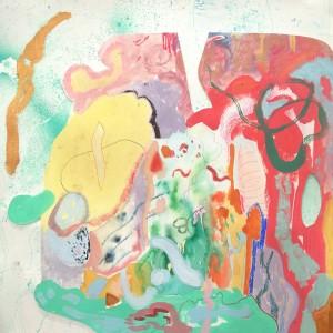 João Melo, st 4, 2019, oleo, aguarela, pastel oleo e lapis cor s papel aguarela, 40x40cm