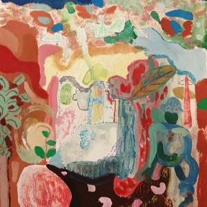 João Melo, st 5, 2019, oleo, aguarela, pastel oleo e lapis cor s papel aguarela, 30x27,5cm