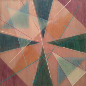 Joana Paraíso, centro, acrilico s MDF, 30x30cm