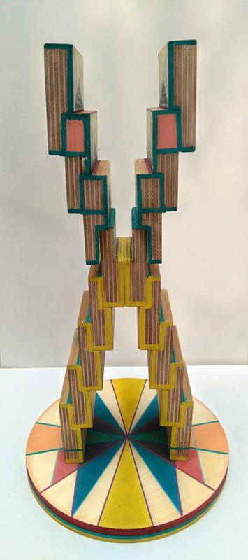Joana Paraíso, interceção 1, acrilico s MDF, 18x32,5x18cm
