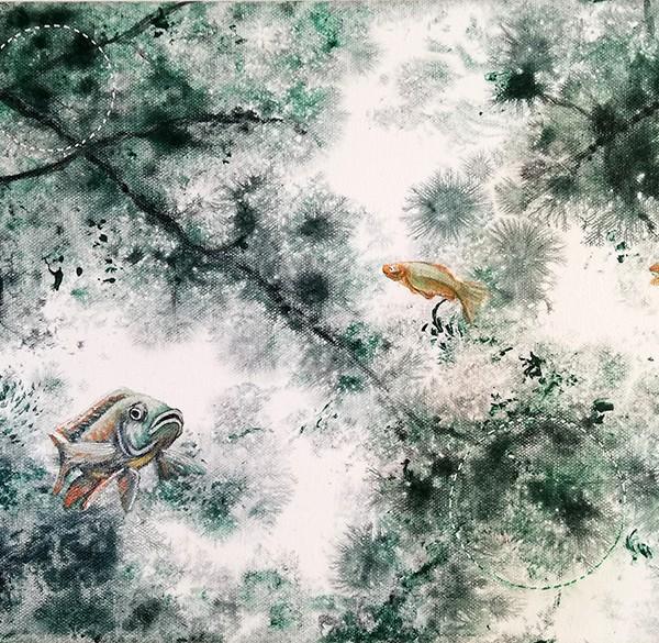 Joana Soberano - Study for wonderland XIII, 2019, 30x40cm, acrilico s tela