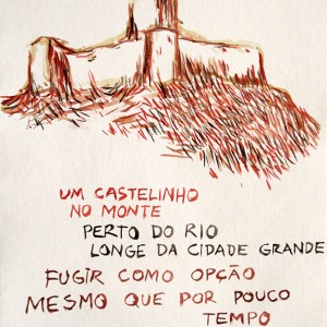 Jorge Leal, castelinho, aguarela s papel, 42x29,7cm