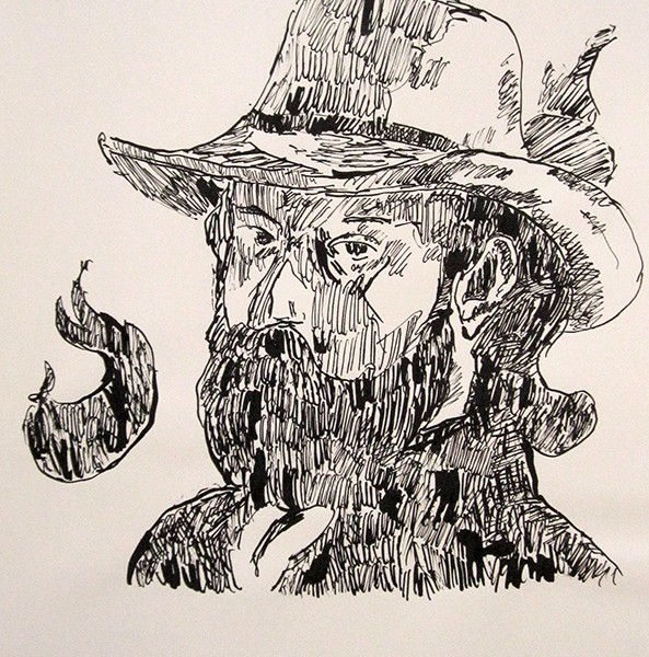 Jorge Leal, cezanne 1, aparo e tinta da china s papel, 42x29,7cm